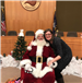 Santa Claus with the City Clerk