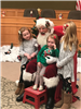 Santa Claus and little girls