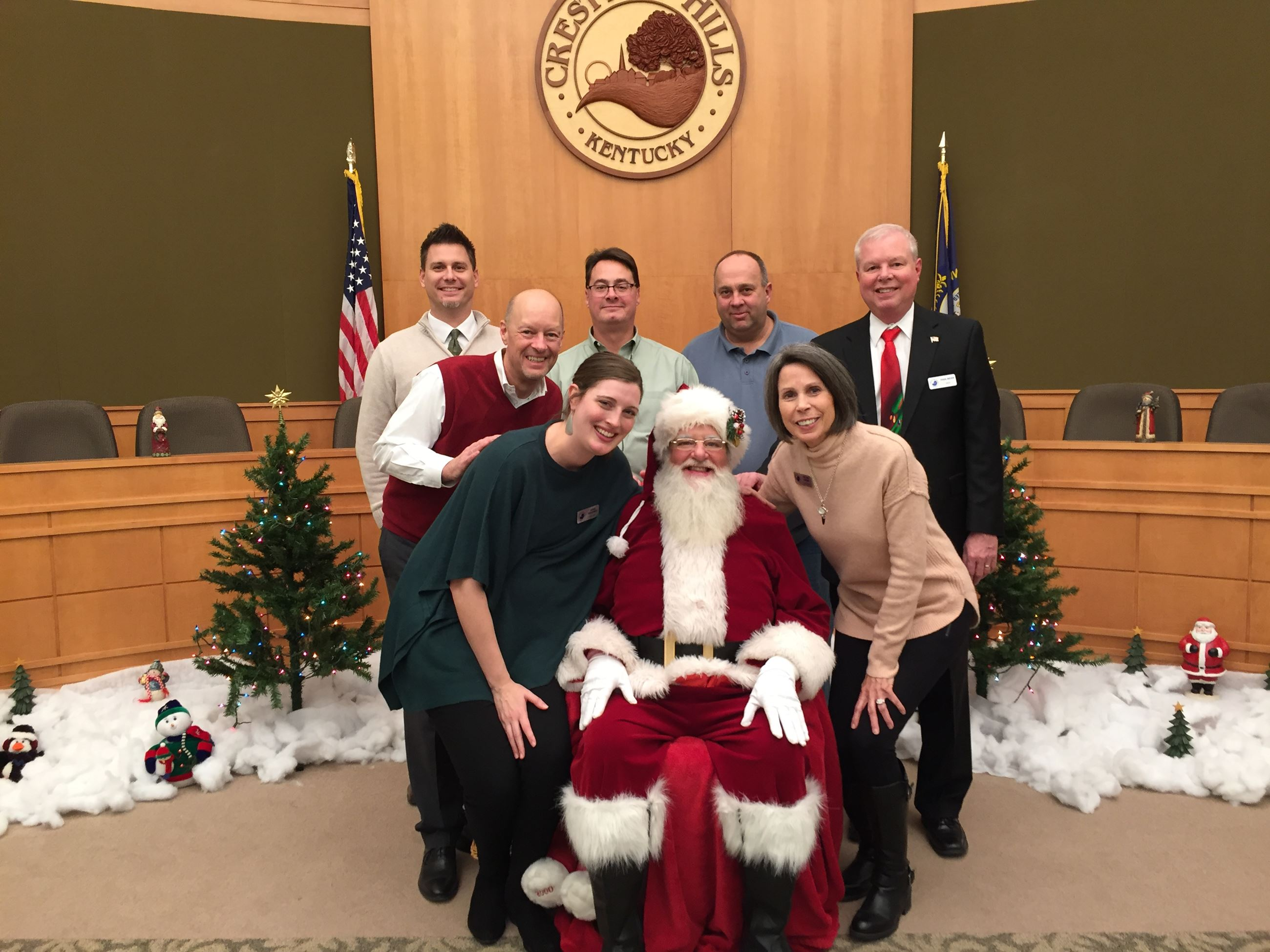City Staff & Santa Claus